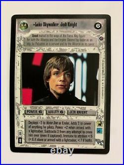 Star Wars SWCCG CCG Death Star II Luke Skywalker, Jedi Knight UR Ultra Rare NM