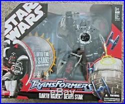 Star Wars Transformers Darth Vader Death Star Rare Hasbro Crossover