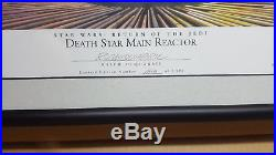 Star Wars Willitts Ralph Mcquarrie Signed Lithograph Death Star Reactor New Ap