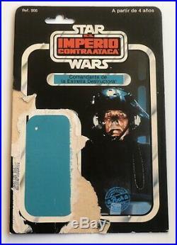 Star Wars vintage Poch PBP Spanish Death Star Squad Commander Cardback Rare ESB