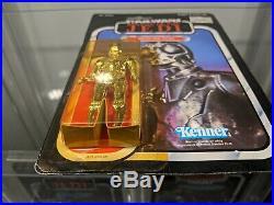 Star wars Death Star Droid vintage moc 77 back Kenner rotj