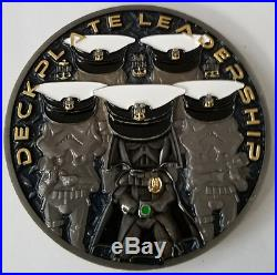 US Navy CPO Darth Vader Death Star Star Wars Deck Plate Service With Aloha