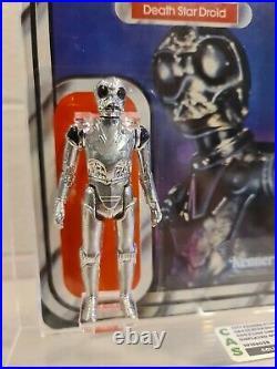 VINTAGE 1979 KENNER STAR WARS DEATH STAR DROID Display with 21 BACK Cardback CAS
