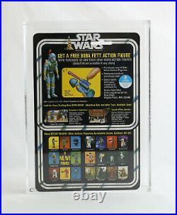 VINTAGE STAR WARS MOC Death Star Droid 20 Back X AFA 85 STUNNING Kenner CLEAR