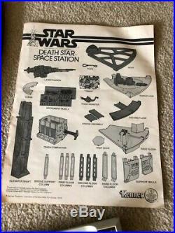 Vintage 1977 Kenner Star Wars Death Star Playset with Original Box AS IS