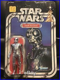 Vintage 1978 Star Wars Death Star Droid 21 Back MOC UNPUNCHED