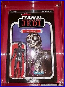 Vintage Kenner STAR WARS MOC ROTJ Death Star Droid AFA 70 1983