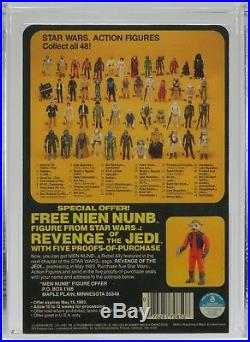 Vintage Kenner Star Wars Revenge Proof Card Death Star Commander AFA 90 NM+/MT