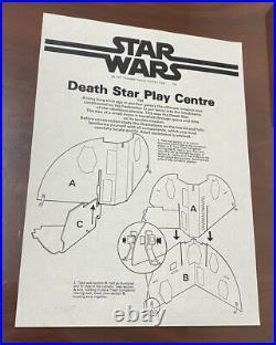 Vintage OriginalPalitoy Death Star Instruction Sheet