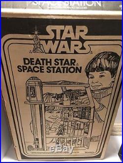 Vintage STAR WARS Death Star Station Playset LOOK 1977 Original Kenner withbox