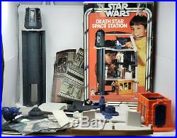 Vintage Star Wars 1977 Death Star Station Play Set Complete With Box And Rope