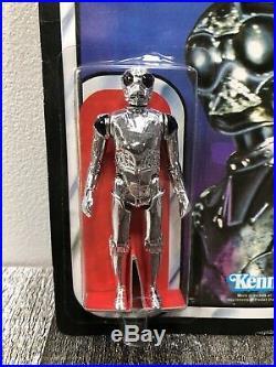 Vintage Star Wars 1983 ROTJ Kenner Death Star Droid 65 Back MOC Blacked Out
