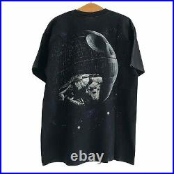 Vintage Star Wars All Over Print Death Star T-shirt