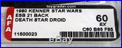 Vintage Star Wars Carded ESB 21-Back Death Star Droid AFA 60 EX #11500023 RARE