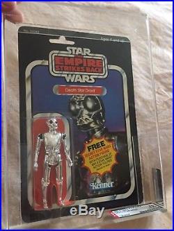 Vintage Star Wars Death Star Droid ESB 21 Back MOC AFA 75