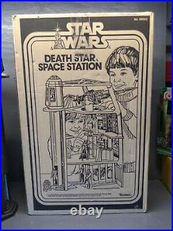 Vintage Star Wars Death Star Space Station Complete With Rope Instructions Box