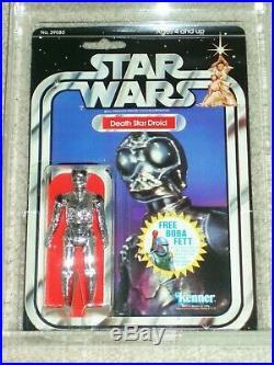 Vintage Star Wars KENNER 1978 AFA 80/85/85 DEATH STAR DROID 20 BACK-D MOC CLR BL