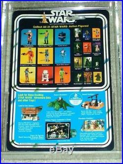 Vintage Star Wars KENNER 1979 AFA 80/85/85 DEATH STAR DROID ANH 21 BACK-B MOC