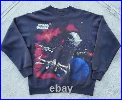 Vintage Star Wars Return of The Jedi Crewneck (size Large) Endor/ Death Star