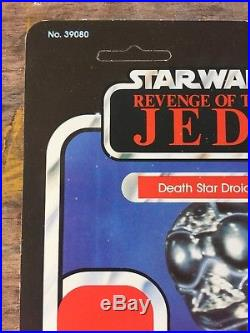 Vintage Star Wars Revenge Of The jedi proof Card death Star Droid